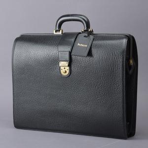 超レア品 BURBERRYS バーバリー ビジネスバッグ ブリーフケース レザー ブラック ビンテージ チェック ドクターズ A4 書類鞄 Ma.g/a.g