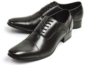新品■27cm ビジネスシューズ メンズ 幅広 3EEE 紳士靴 オフィス フォーマル 冠婚葬祭 ストレートチップ レースアップ 内羽根 クッション