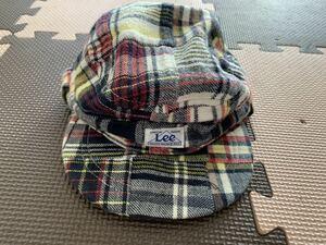 Lee 50 チェック柄 帽子 ワークキャップ キッズ ベビー 子供 中古品 おしゃれ かわいい ファッション 秋 冬
