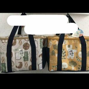 *保温・保冷バッグ BOX型デイリークーラー エコバッグ お弁当柄/バケット柄 2点セット