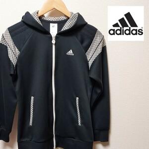 adidas レディース Sサイズ 【M程度】 アディダス ジップ パーカー スウェット スポーツ ゴルフ ランニング ウェア