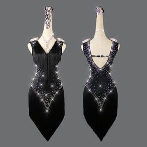 新作 レディース社交ダンス衣装 ラテンドレス お得セット品 ショートワンピース ライトストーン飾り 2色 サイズセミオーダー可