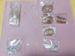 ハンドメイドに フープピアス イヤリング ワイヤー パーツ 丸 ハート 6種類セット まとめ売り 手芸用品