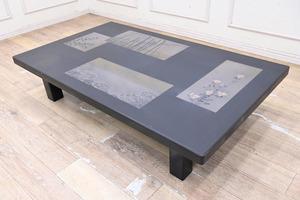 EE20 最高級 輪島塗 乾漆 黒漆 座卓 座敷机 ローテーブル リビングテーブル