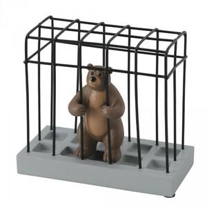 【即納】ステーショナリースタンド クマ SR-3043 セトクラフト 動物 ペン立て 文具 机上 文房具 雑貨 動物園 熊 コスメ