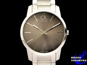 827 未使用 Calvin Klein CK カルバンクライン K2G21126 CITY シティー クォーツ シルバー 腕時計 メンズ 男性 ビジネス ウォッチ 送料無料