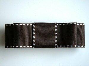 Простой боковой стежок Grogran прямая лента Valetta Brown X белый новый · ручной работы