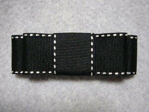 Простой боковой стежок Grogran прямая лента Valletta Black X белый новый · ручной работы