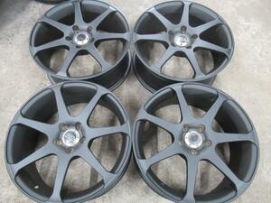 【BRZ・86・インプレッサ】★AVS・モデル7/Custom wheel♪レアアイテム♪【マッドブラック塗装】17X7.0J+50 5/100◆