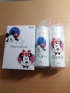 新品未使用 ディズニー ミッキー&ミニー 120ml水筒 2点セット