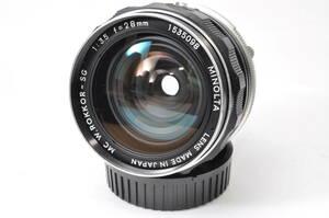 並品 ミノルタ MINOLTA MC W.ROKKOR-SG 28mm F3.5 【1535098】 ♯9995
