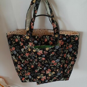 花柄ハンドメイド トートバッグ