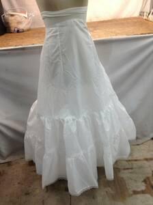 w210325-022D ウエディングドレス サイズ4 白 レース コスプレ ウエディング 動画 お芝居