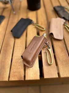 SOTO スライドガストーチ 本革 カバー真鍮フックtype チョコ
