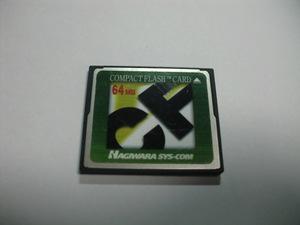 HAGIWARA コンパクトフラッシュ 64MB メガバイト Compact Flash フォーマット済み 送料63円(ミニレター) CFカード