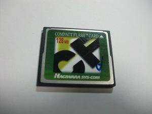 HAGIWARA コンパクトフラッシュ 128MB メガバイト Compact Flash フォーマット済み 送料63円(ミニレター) CFカード