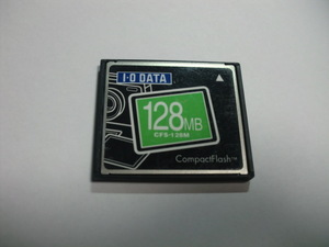 I・O DATA コンパクトフラッシュ 128MB メガバイト Compact Flash フォーマット済み 送料63円 (ミニレター) CFカード