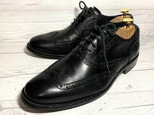 【即決】★美品★ COLE HAAN コールハーン 6.5 25cm程度 ウィングチップ メンズ C12209 ビジネスシューズ 黒 くつ 本革 本皮 レザー 革靴