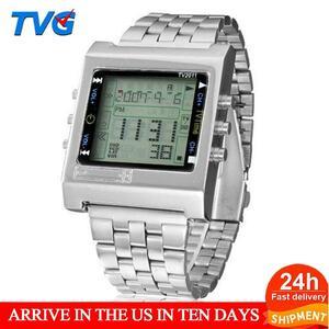 ★★メンズ腕時計 レトロデジタル腕時計 ファッション腕時計 044