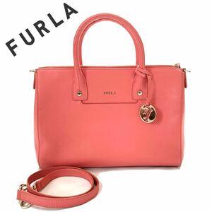 【送料無料】FURLA フルラ 2way ハンドバッグ トートバッグ ピンク レザー カバン ハンドバッグ 肩掛け ミニボストン レディース