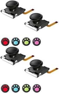 ジョイコン 修理 Xunbida Joy-Con コントロール L/R 交換用 センサー 4個セット 親指グリップキャップ付き