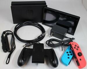 新型 任天堂 ニンテンドー スイッチ Nintendo Switch Joy-Con L ネオンブルー R ネオンレッド セーフティガイド・外箱なし