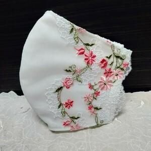 立体インナー かわいい小花の刺繍チュールレース