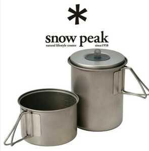 新品 スノーピーク snow peak クッカーセット ソロセットチタン SCS-004TR Mini Solo Cook Set Titanium