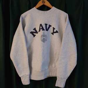 ヴィンテージ US NAVY naval academy リバースウィーブ スウェット アメリカ製 cotton exchange ネイビー champion チャンピオン パーカー