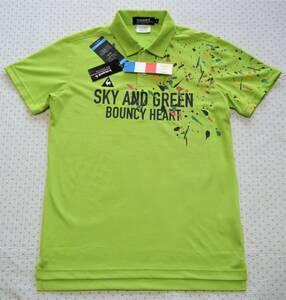 ルコック lecoq Splash ゴルフ用高機能クーリングポロシャツ 明緑色 サイズ M 軽量/吸汗速乾/ストレッチ/放熱/UV機能 定価 9,790円