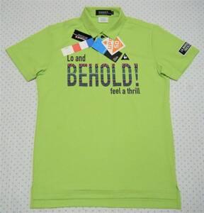 ルコック lecoq Ethnic ゴルフ用高機能/冷感ポロシャツ 明緑色 サイズ M 軽量/吸汗速乾/ストレッチ/UV機能 定価 10,890円