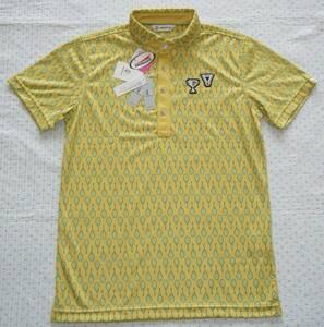 アンパスィ andper se ゴルフ用高機能ポロシャツ 黄系 サイズ M ワイドカラーモデル 吸水速乾/吸湿/UVケア機能 定価 17,600円