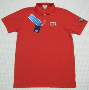カッター&バック CUTTER&BUCK ゴルフ用高機能/涼感ポロシャツ 赤色 サイズ M 吸汗速乾/クーリング/UV機能 日本製 定価 10,890円