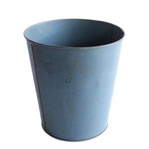 ゴミ箱 ダストボックス アンティーク ヴィンテージ メタル スチール 鉢 グリーン 雑貨 インダストリアル 030