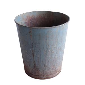 ゴミ箱 ダストボックス アンティーク ヴィンテージ メタル スチール 鉢 グリーン 雑貨 インダストリアル 031
