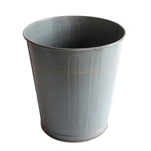 ゴミ箱 ダストボックス アンティーク ヴィンテージ メタル スチール 鉢 グリーン 雑貨 インダストリアル 033