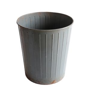 ゴミ箱 ダストボックス アンティーク ヴィンテージ メタル スチール 鉢 グリーン 雑貨 インダストリアル 032