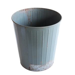 ゴミ箱 ダストボックス アンティーク ヴィンテージ メタル スチール 鉢 グリーン 雑貨 インダストリアル 034