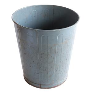 ゴミ箱 ダストボックス アンティーク ヴィンテージ メタル スチール 鉢 グリーン 雑貨 インダストリアル 035