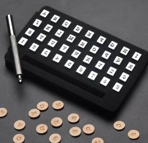 アルファベット(A~Z)と数字(0~9)の打刻印36種セット