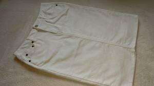avv standard デニムスカート 白 未使用 タイト スリット Mサイズ
