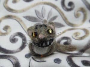 羊毛フェルト 猫 チェシャ猫 ハンドメイド