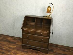 ●KH3/27 ライディングビューロー 箪笥 タンス 茶たんす 飾り棚 キャビネット 和家具 小物整理 引き出し 収納