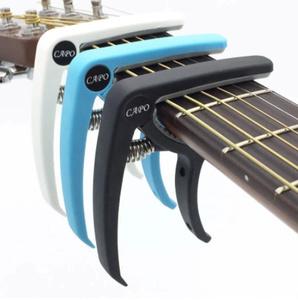 【新品】Slozz プラスチック ギターカポ用 6弦 アコースティック クラシック 電気ギター ラチューニング クランプ 楽器アクセサリー