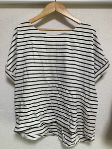 LEPSIM レプシィム ボーダーtシャツ カットソー プルオーバー 黒白 半袖 夏服