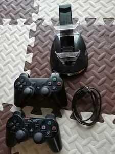 PS3 ワイヤレスコントローラー SONY コントローラーチャージングスタンド ダブル USBインテリア充電器 動作確認済