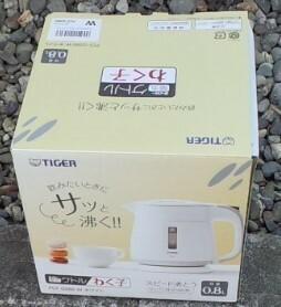 新品タイガー魔法瓶(TIGER) 電気ケトル ホワイト 0.8L PCF-G080-W