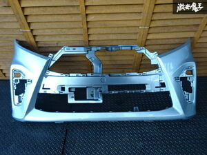 ダイハツ 純正 LA660S LA650S タントカスタム フロントバンパー 52119-B2G00 色 S28 ブライトシルバーメタリック 割れは無し 棚2F-G-1