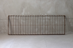 01044 old iron fence / iron ... window frame fittings old furniture old tool antique car Be lino beige .n reform gardening