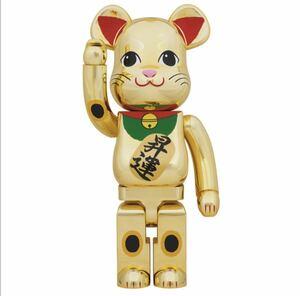 【新品】BE@RBRICK 招き猫 金メッキ 昇運 1000% ベアブリック メディコムトイ